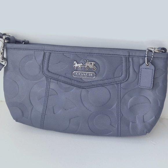Coach Madison Embossed Wisteria Leather Clutch